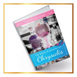 Libro de recetas de gin tonics con Chrysalis Gin